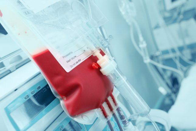 עירוי דם, מנת דם. אילוסטרציה