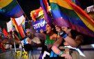 הפגנה של הקהילה הגאה (צילום: פלאש 90)